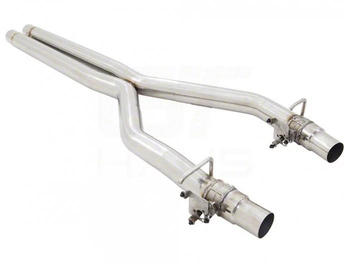 american roar stainless resonator delete x pipe 19 21 hellcat redeye w active exhaust