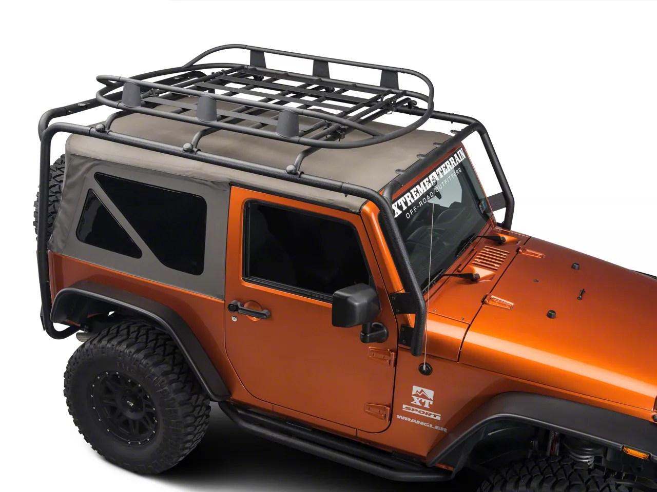 barricade roof rack basket textured black 66 21 jeep cj5 cj7 wrangler yj tj jk jl