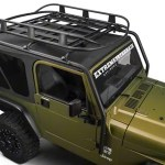 Barricade Jeep Wrangler Roof Rack Basket Textured Black J100175b 87 06 Jeep Wrangler Yj Tj