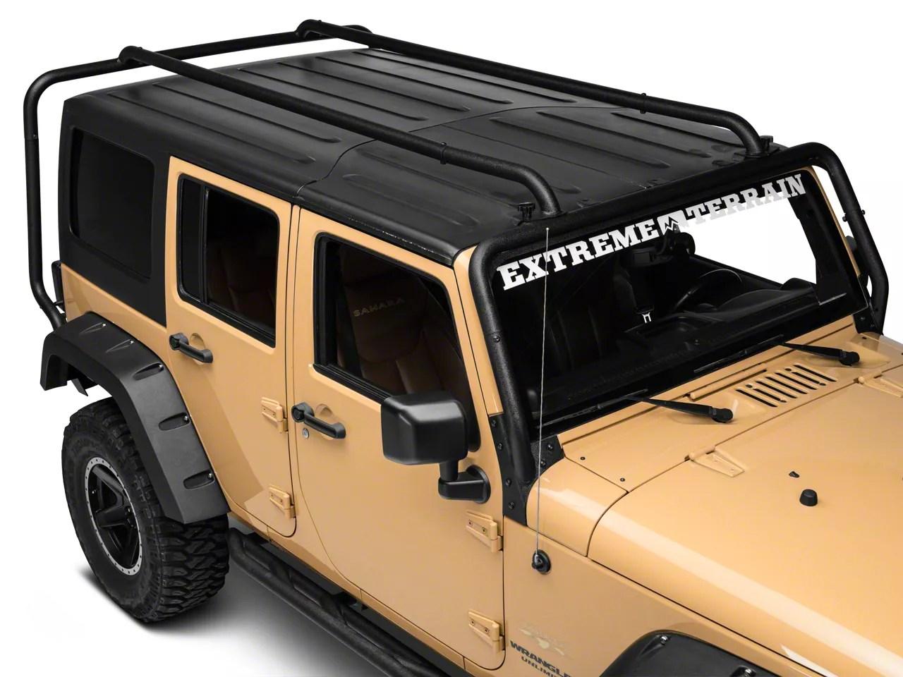 rugged ridge sherpa roof rack 07 18 jeep wrangler jk 4 door