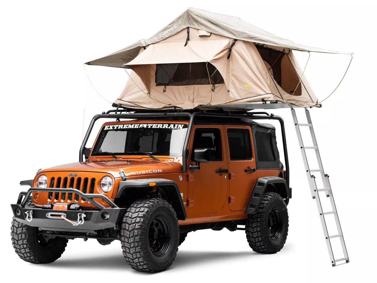 smittybilt overlander roof top tent coyote tan universal fitment