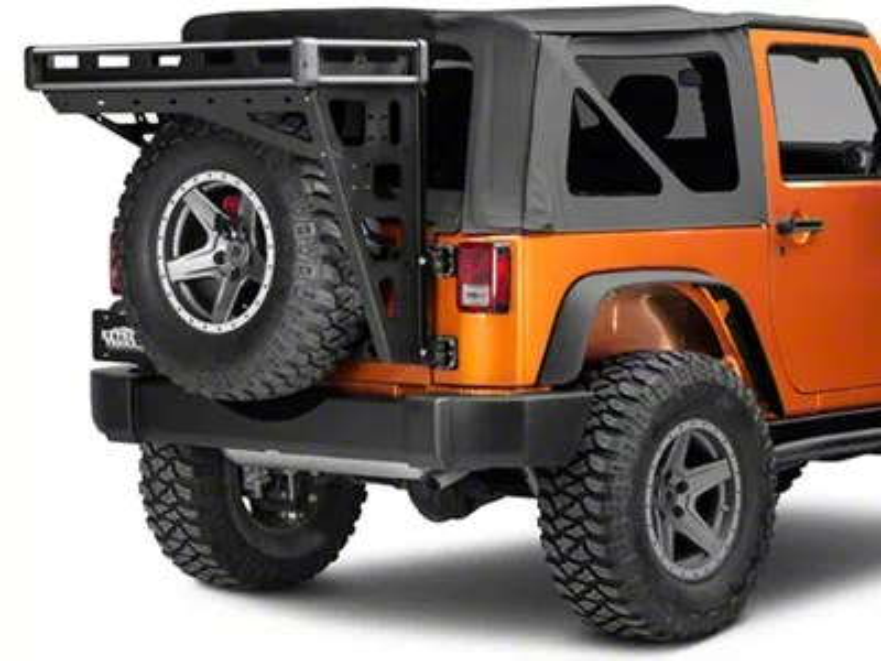 teraflex alta cargo rack silver rails 07 18 jeep wrangler jk