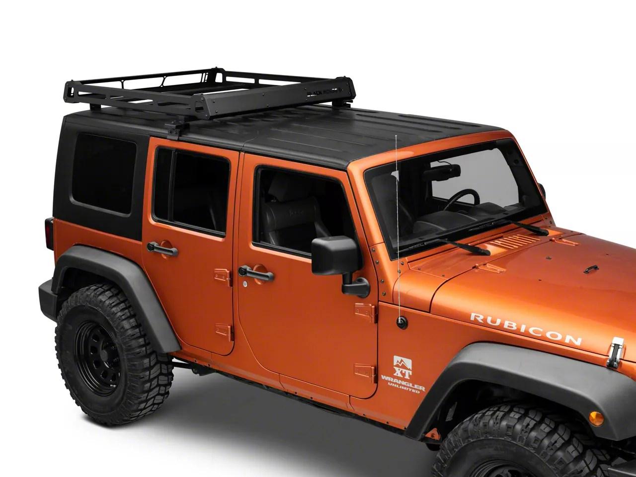 no drill rooftop rack 07 18 jeep wrangler jk