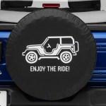 Jeep Wrangler Enjoy The Ride Spare Tire Cover 87 18 Jeep Wrangler Yj Tj Jk