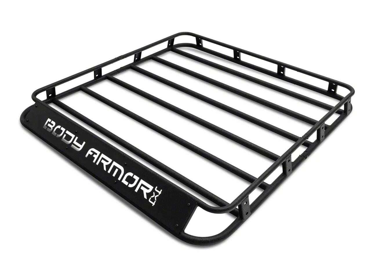body armor 4x4 overland style roof rack basket 07 18 jeep wrangler jk