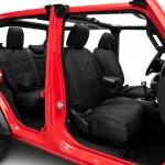 Smittybilt Jeep Wrangler Neoprene Front And Rear Seat Covers Black 472101 18 21 Jeep Wrangler Jl 4 Door Excluding Rubicon