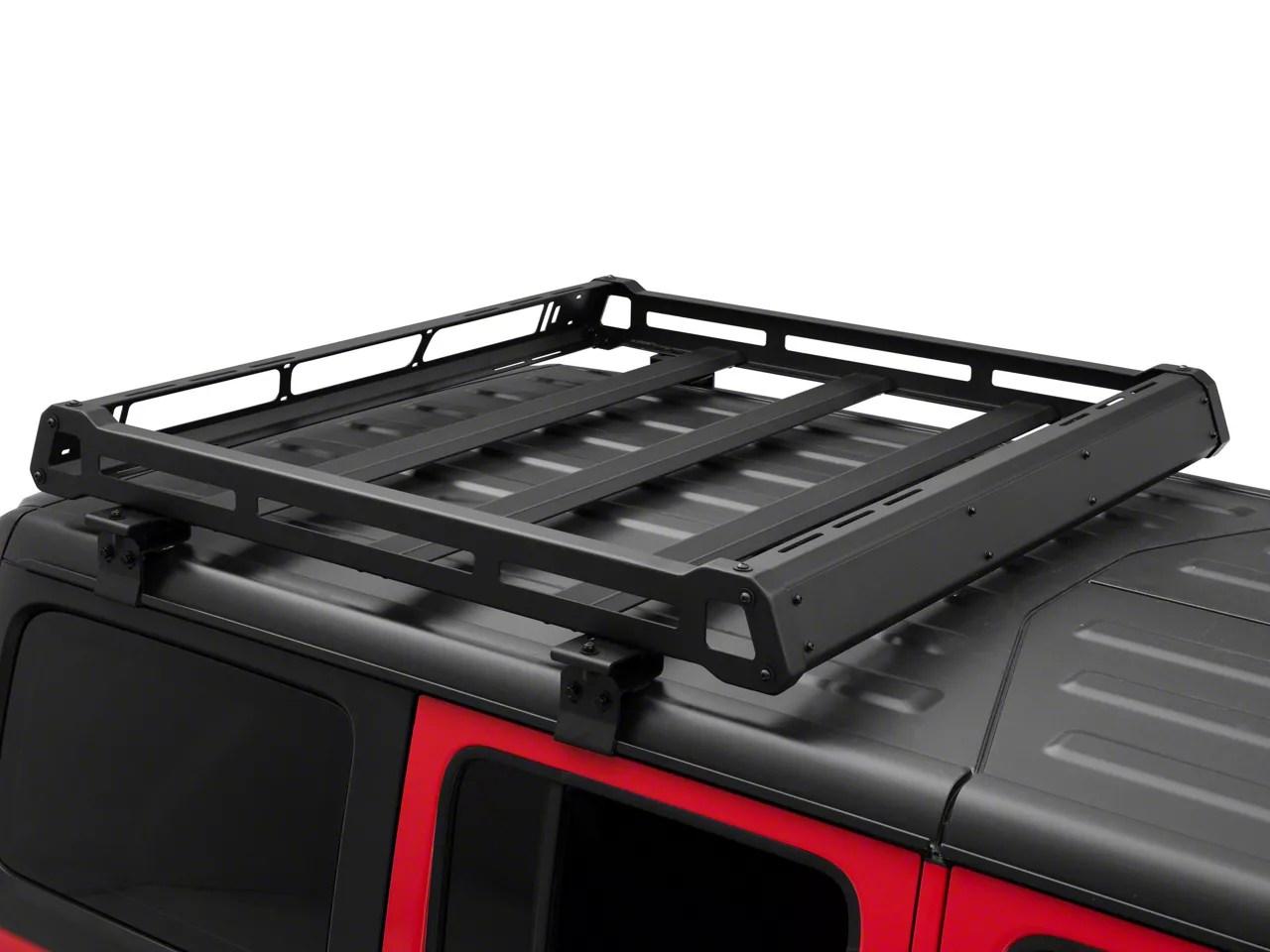 barricade roof rack basket for oem hard top 18 21 jeep wrangler jl