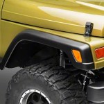 Jeep Wrangler Factory Style Fender Flares With Front Extensions 97 06 Jeep Wrangler Tj