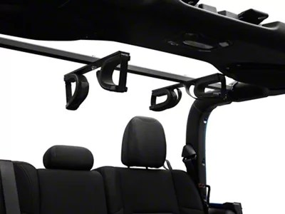 redrock 4x4 quick draw overhead gun rack for tactical weapons 20 21 jeep gladiator jt