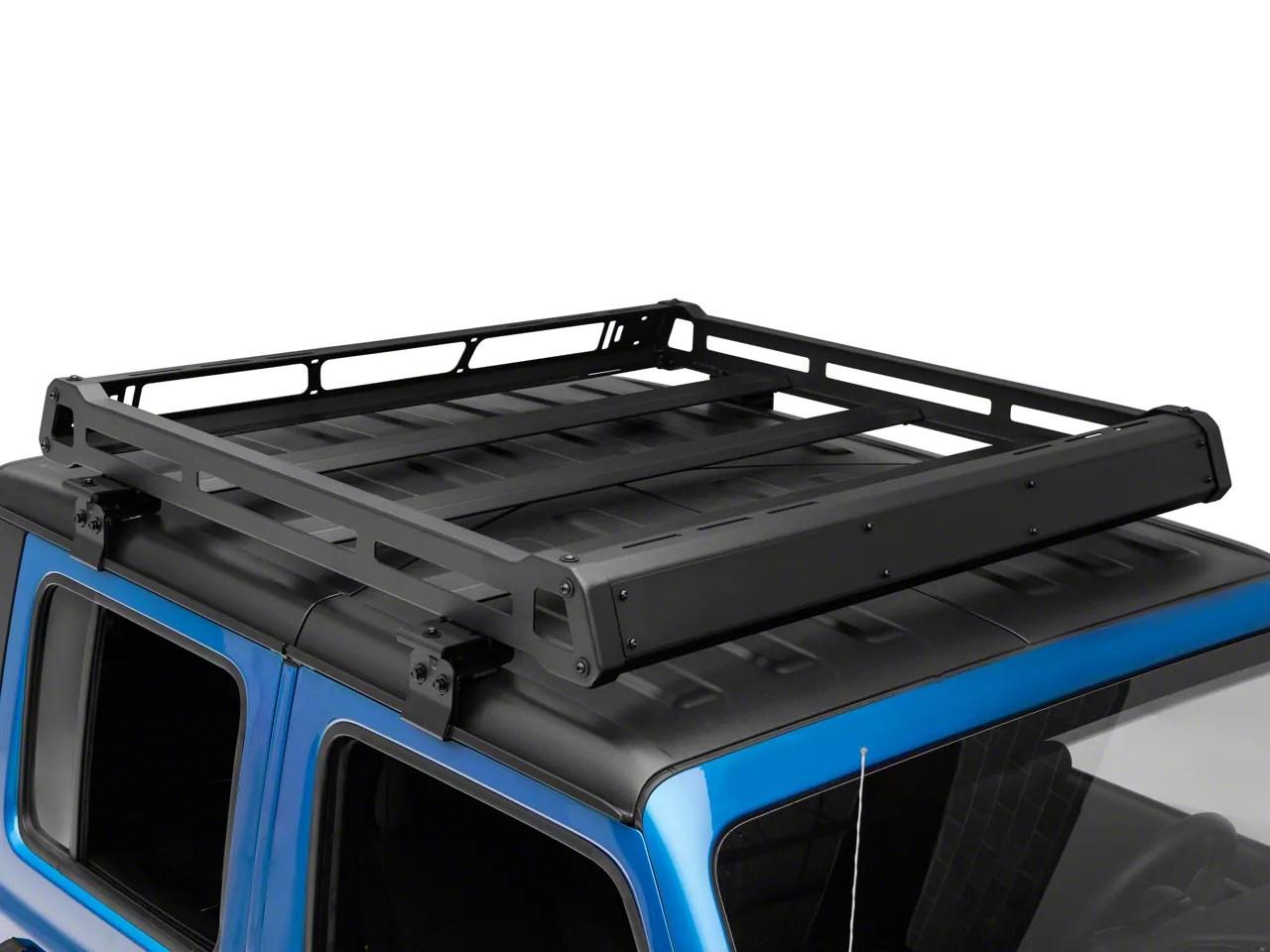 barricade roof rack basket for oem hard top 20 21 jeep gladiator jt