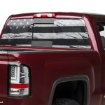 Sec10 Sierra 1500 Perforated Distressed Flag Rear Window Decal S502953 07 21 Sierra 1500