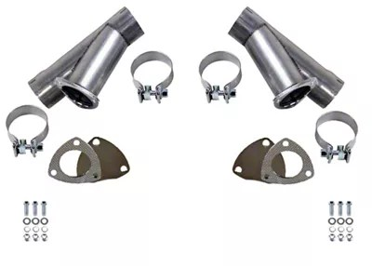 granatelli motor sports manual exhaust cutout 3 inch pair universal fitment