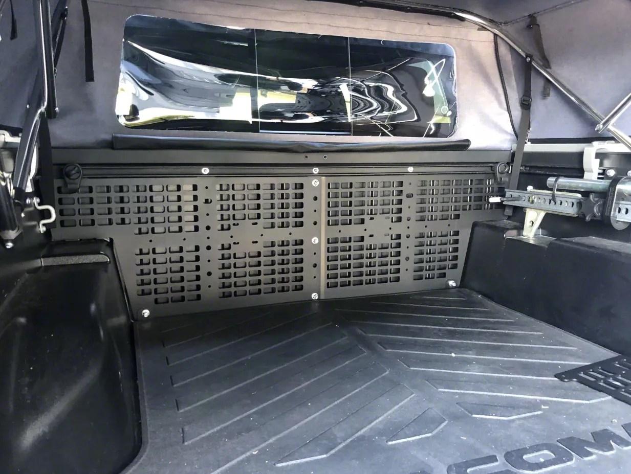cali raised led overland bed rack system low profile 05 21 tacoma