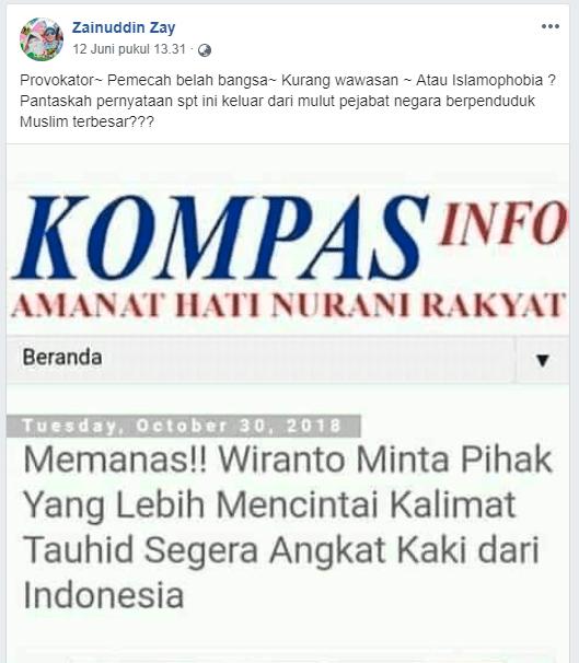 [SALAH] Wiranto Minta Pihak yang Lebih Mencintai Kalimat Tauhid Segera Angkat Kaki dari Indonesia - Screenshot 2128 - [SALAH] Wiranto Minta Pihak yang Lebih Mencintai Kalimat Tauhid Segera Angkat Kaki dari Indonesia