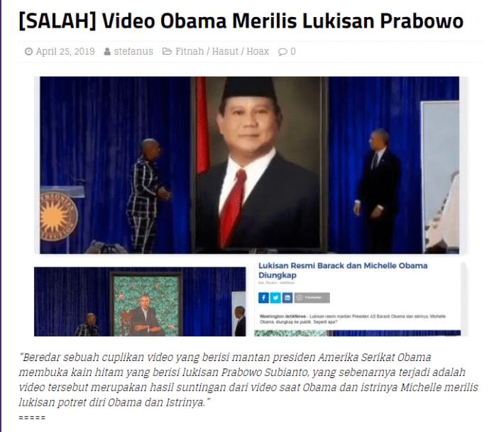 [SALAH] BARACK OBAMA mewakili Negara Amerika Serikat, telah menyatakan Kemenangan PRABOWO-SANDI