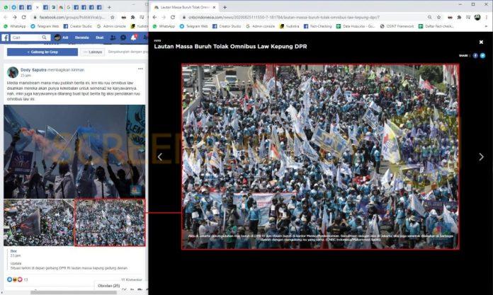 """[SALAH] """"Media mainstream mana mau publish berita ttg aksi penolakan ruu omnibus law"""""""