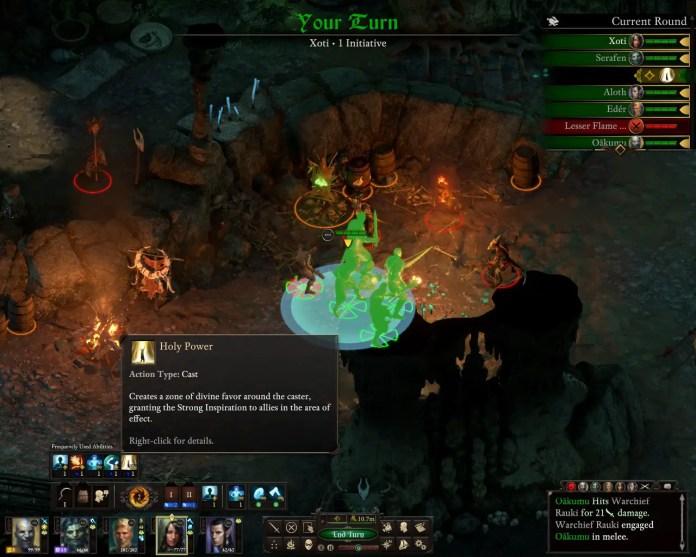 Pillars of Eternity II with turn-based mode