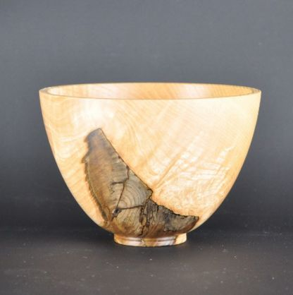 Small ash wood bowl