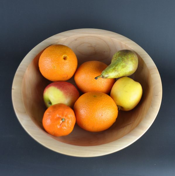 fruit bowl made of lime wood