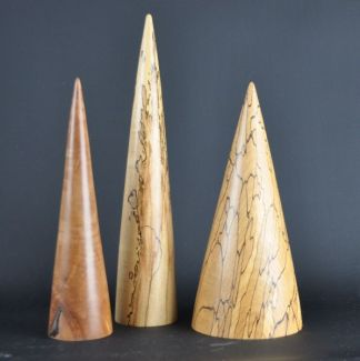 Decorative wooden cones