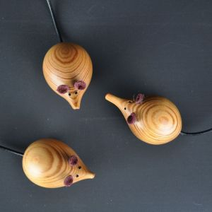 church mice made of reclaimed pine