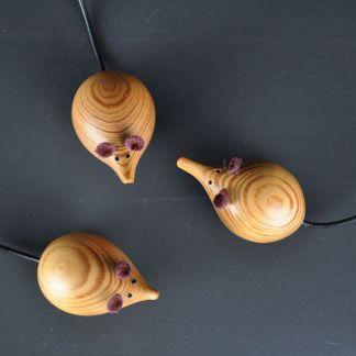 church mice made of reclaimed pine