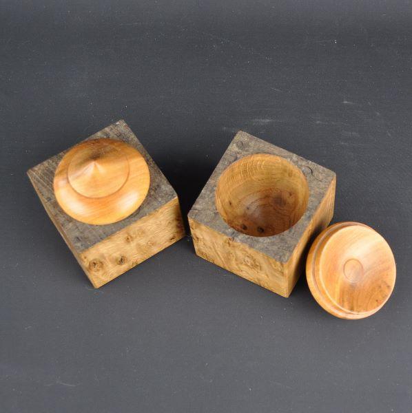wooden box in burr oak