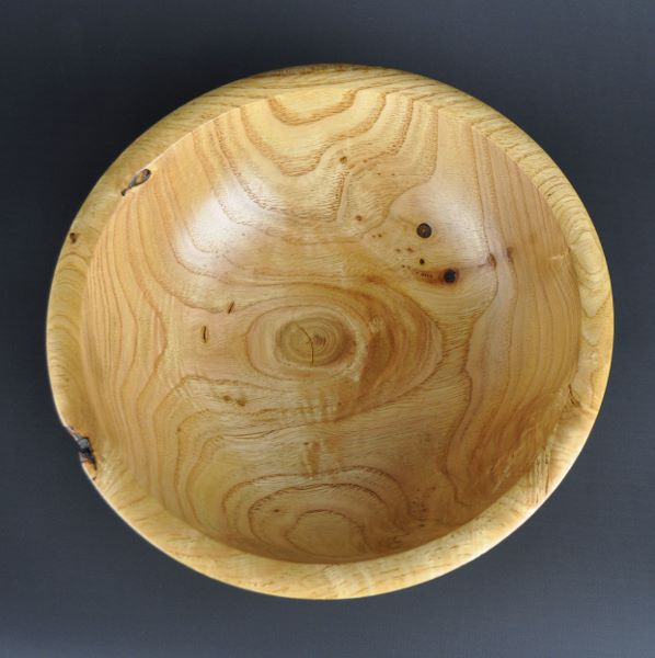 wooden fruit bowl, inside