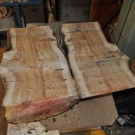 yew log cut for bowl blanks
