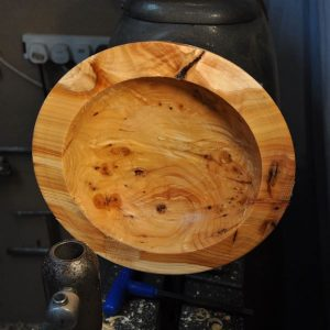 yew bowl roughed out