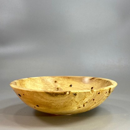 Wormy sycamore bowl