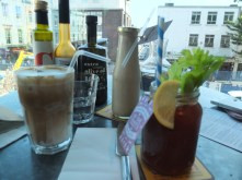 Jamie Oliver's Recipease: iced coffee, bloody mary and peanut butter banana milkshake, all our favourites!!