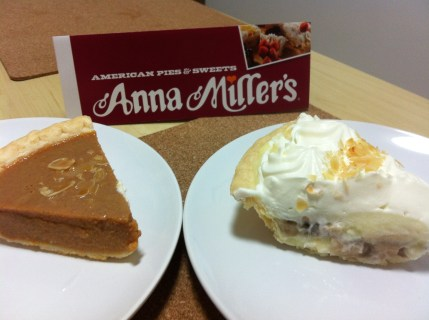 A bit of America here in Tianjin. A slice of Pumpkin and Banana Creme Pie!