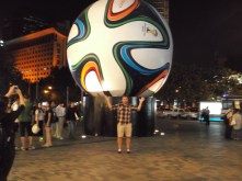 A bit of World Cup fun outside the shopping mall