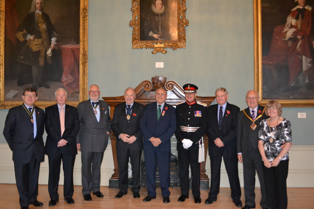 Ray with the Lord Lieutenant of Worcester, the Mayor and Lady Mayoress, and members of the Company