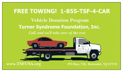 Vehicle Donations for Turner Syndrome