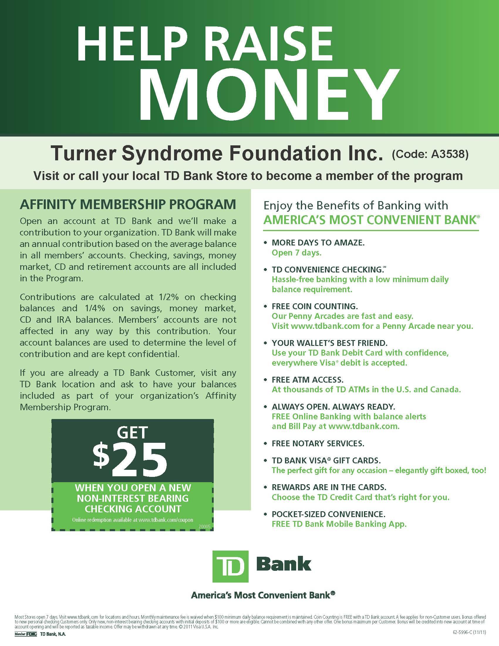 Td affinity flyer 04 19 12 turner syndrome foundation td affinity flyer 04 19 12 m4hsunfo