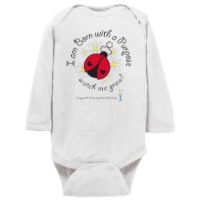 infant long sleeve onsie lady bug