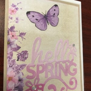 Greeting Card Hello Spring