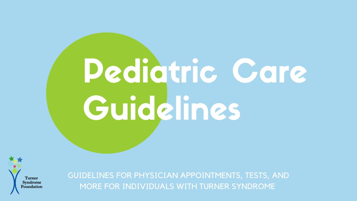 pediatric care guidelines