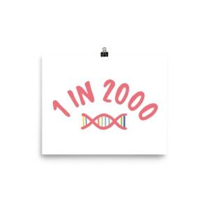1 in 2,000 DNA