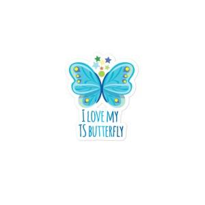 I Love My TS Butterfly (Blue)