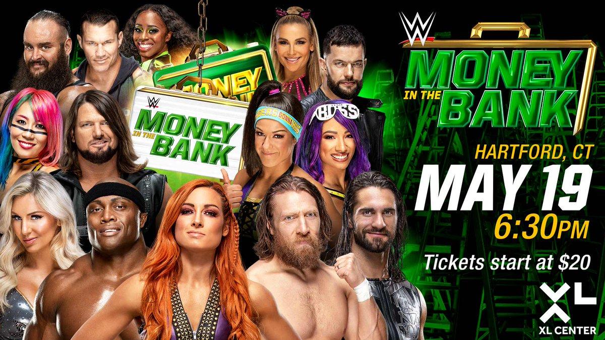Cartelera actualizada para Money In The Bank 2019 Combate añadido al Kickoff de Money In The Bank