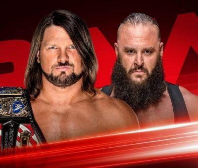 AJ Styles Braun Strowman Raw