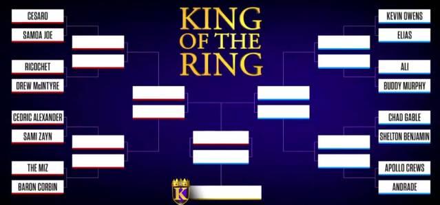 WWE anuncia los emparejamientos del King Of The Ring