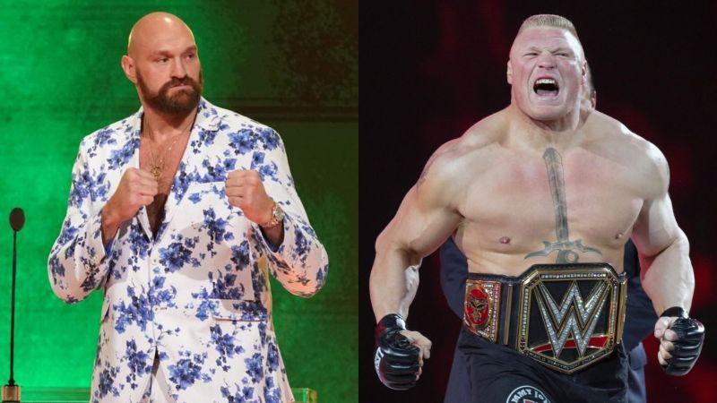 Tyson Fury Brock Lesnar Wrestlemania 36