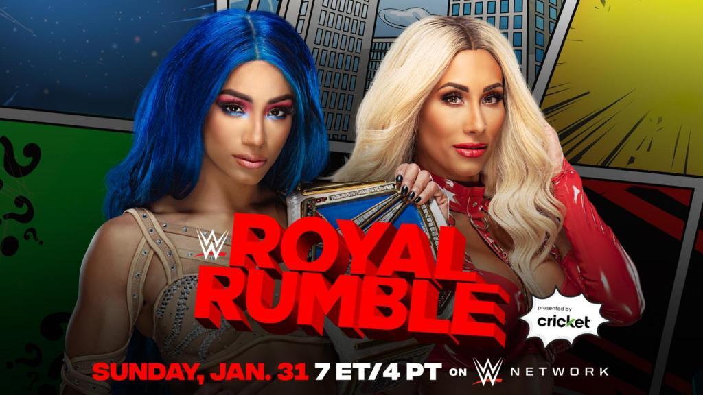 Sasha Banks pondrá su título en juego ante Carmella en Royal Rumble 2021