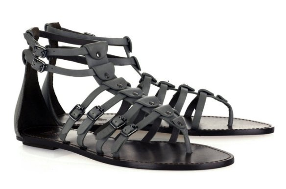 Sigerson Morrison gladiator sandals Photo credit: The New York Times