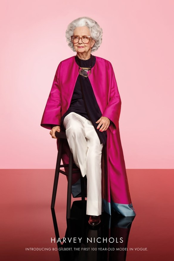 Bo Gilbert, 100 year-old model, Photo by Phil Poynter