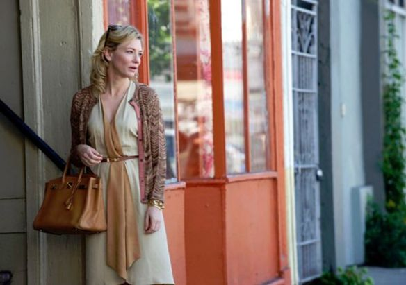 Cate Blanchett, Blue Jasmine, with her Birkin bag